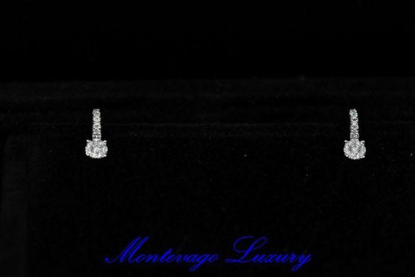 Immagine di ORECCHINI A MONACHELLA CON DIAMANTI 0,24 CT
