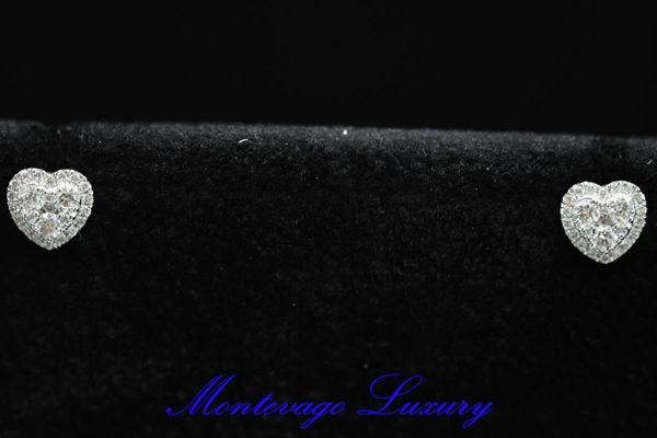 Immagine di ORECCHINI A CUORE CON DIAMANTI 0,52 CT