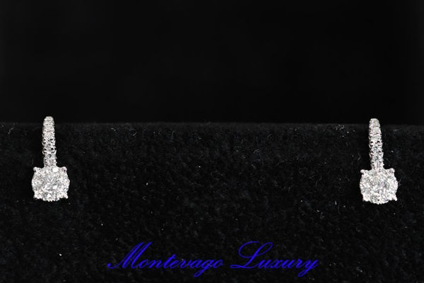 Immagine di ORECCHINI A MONACHELLA CON DIAMANTI 0,54 CT