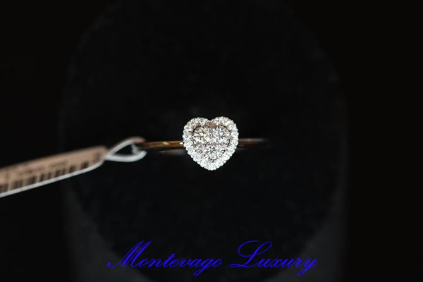 Picture of ANELLO CON CUORE DI DIAMANTI 0.26 CT