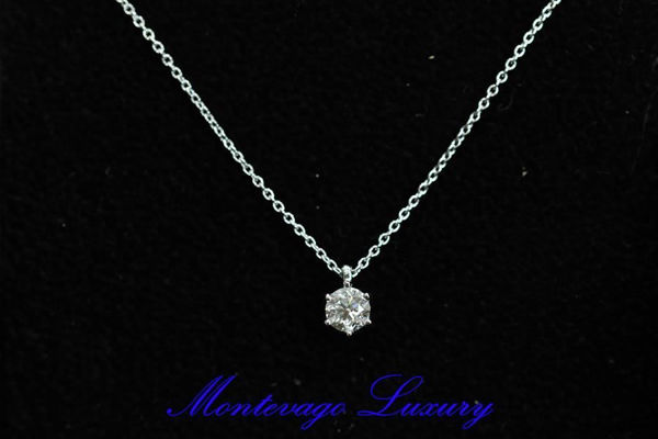 Picture of COLLANA CON PUNTO LUCE 0.51 CT